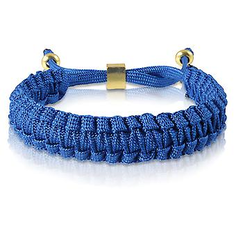 Skipper braided bracelet bracelet bracelet braided nylon in Blau Gold 7171