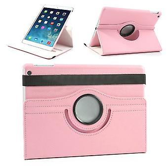 Προστατευτική θήκη φο δέρμα 360 μοιρών βαθμού ροζ για την Apple iPad Air 2 2014