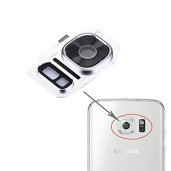 For Samsung Galaxy S7 G930F camera ring glass cover frame cover silver