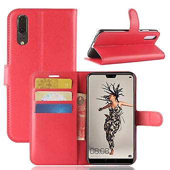 Pocket wallet premium red for Huawei P20 protection sleeve case cover pouch new accessories