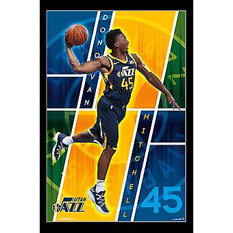 Utah Jazz - Donovan Mitchell Poster Print
