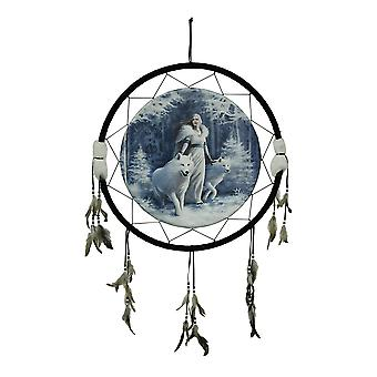 Anne Stokes Winter Guardians Extra Large Canvas Dreamcatcher 24 Inch