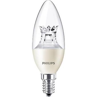 Philips Lighting LED (monocromático) EEC A+ (A++ - E) E14 Candle 4 W = 25 W Branco quente (Ø x L) 38 mm x 113 mm dimmable (Warm Glow) 1 pc(s)