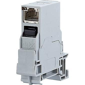 Metz Connect 1401206113KE Network outlet DIN rail CAT 6 Light grey