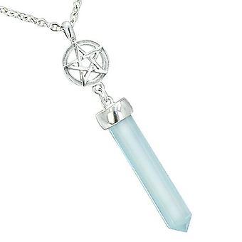 Magische energie bevoegdheden sterren Pentacle Pentagram Amulet kristal punt charme Opalite hanger ketting