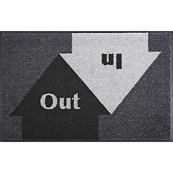 In & out 50 x 75 cm washable floor mat wash + dry