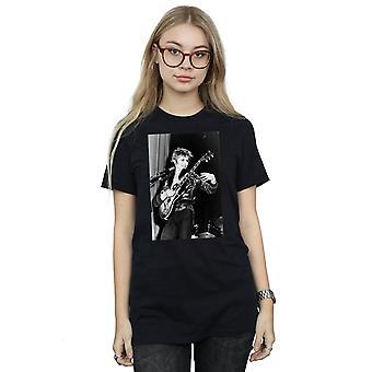 David Bowie Women's Smiling Guitar Boyfriend Fit T-Shirt