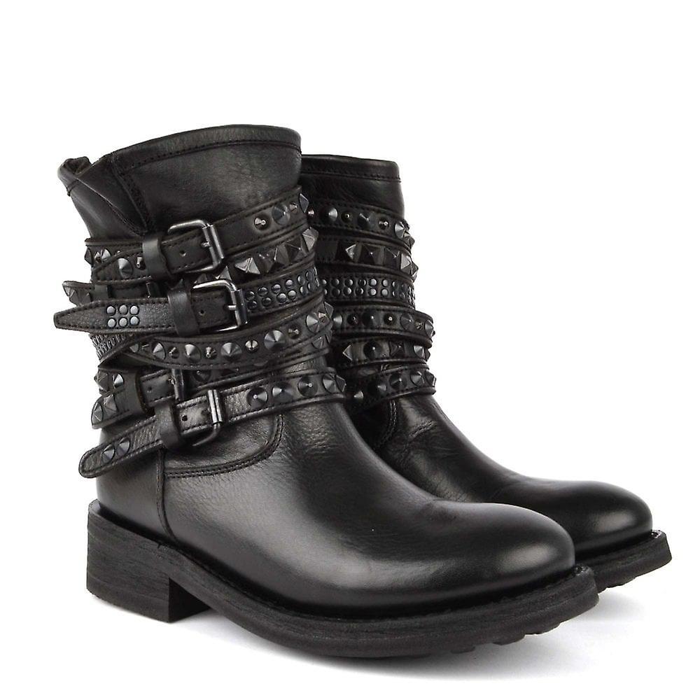 Ash Footwear Tempt Black Studded Boot