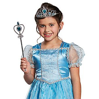 DIAdem set blue children 2 PCs tiara wand accessory Carnival