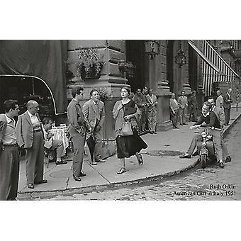 American Girl In Italy, 1951 Roth Orkin Kunstdruck  60 x 90 cm