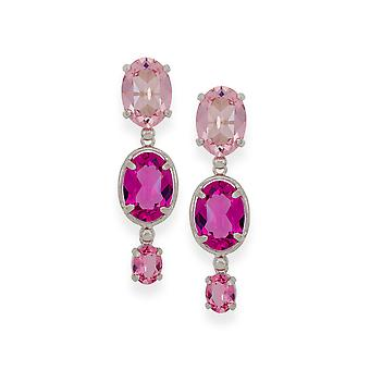 Multicolor earrings with crystals from Swarovski 4760