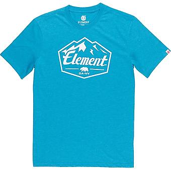 Element Slab Short Sleeve T-Shirt in Storm Blue Heat