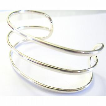 Zeile Sterling Silber Manschette Armband 92,5 Sterling Silber Armreif