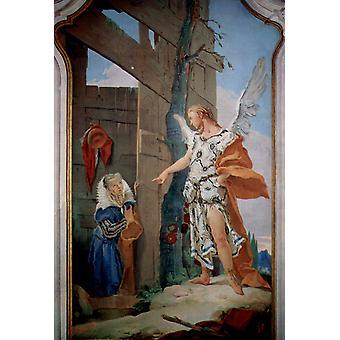 سارة ورئيس الملائكة,جيوفاني باتيستا تيبولو, 60x40cm