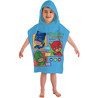 Pj Masks the Pyjama Heroes Badponcho Poncho Bath Towel 115 * 50cm