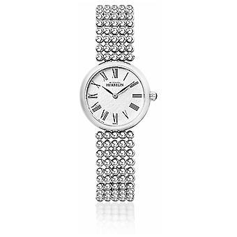 Michel Herbelin Womens 27mm Stainless Steel Bracelet Pearl Dial 17483/B08 Watch
