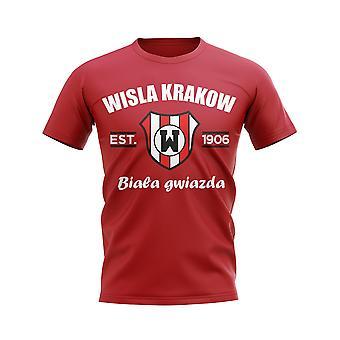 Wisla Krakow perustettiin jalka pallo T-paita (punainen)