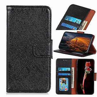 Samsung Galaxy A20e Wallet Case Textured Split-Black