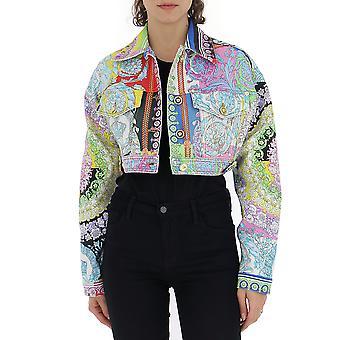 Versace Multicolor Cotton Outerwear Jacket