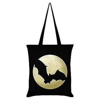 Grindstore bat Moon Silhouette sort tote taske