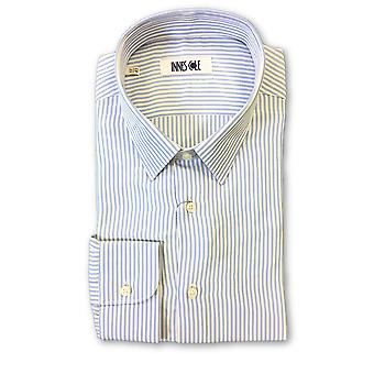 Ingram shirt in blue and white candy stripe