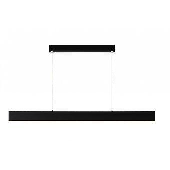 Lucide Raya LED moderna rektangel metall svart hänge ljus