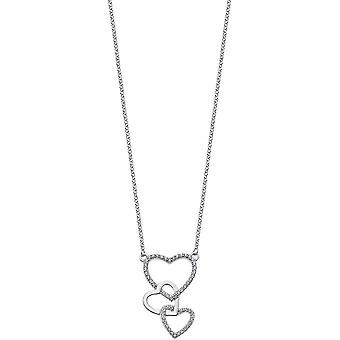 Necklace and pendant Lotus Silver MOMENTS LP1817-1-1 - necklace and pendant MOMENTS money heart woman