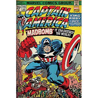 Affiche - Studio B - Captain America - Mad Bomb 36x24