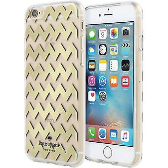 kate spade new york Hardshell Clear Case for iPhone 6/6s - Chevron Gold Foil/Clear