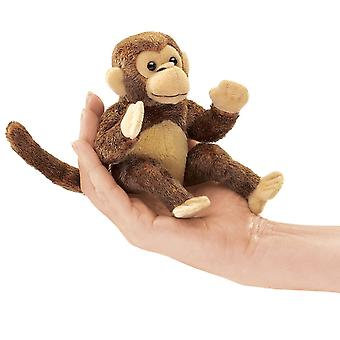 Finger Puppet - Folkmanis - Mini Monkey New Animals Soft Doll Plush Toys 2738