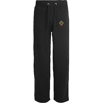Royal Dragoon Guards veteran-licenseret British Army broderet åbne hem sweatpants/jogging bunde