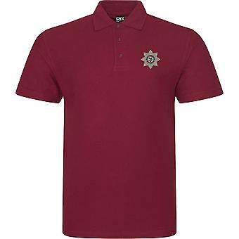 Cheshire Regiment 1920-licensierade brittiska armén broderade RTX Polo