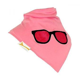 Pink specs success bandana bib