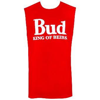 Budweiser Men's Red Sleeveless King Of Beers Tank Top