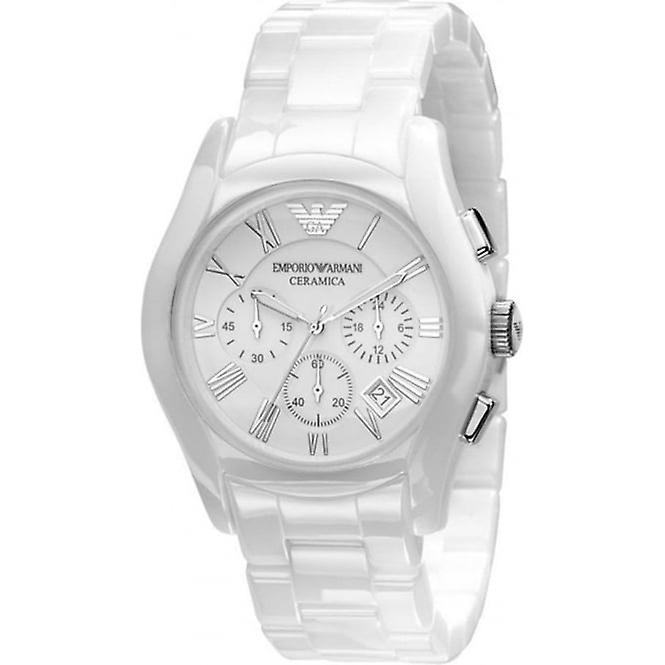 Armani Ar1403 Gents White Ceramic Round White Dial Watch