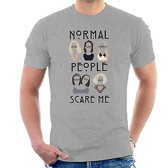 American Horror Story Girls Silhouettes Normal People Scare Me Men's T-Shirt