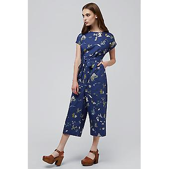 Louche Lison Holiday Print Short Sleeve Tie Waist Jumpsuit Navy Louche Lison Holiday Print Short Sleeve Tie Waist Jumpsuit Navy Louche Lison Holiday Print Short Sleeve Tie Waist Jumpsuit Navy Louche