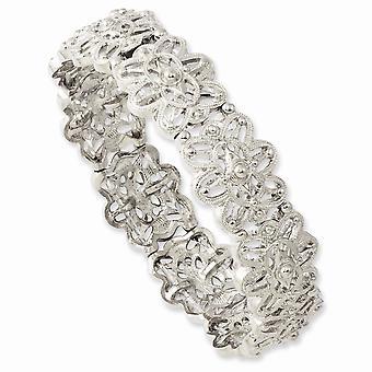 Silver ton Stretch Armband Smycken Gåvor för kvinnor