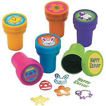 6 Easter Theme Self Inking Stampers for Kids Crafts & Party Bags | Kids Crafts