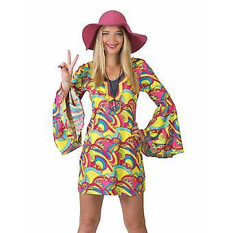 Hippie klänning kvinnors kostym miniklänning Carnival Carnival 60s kostym damer