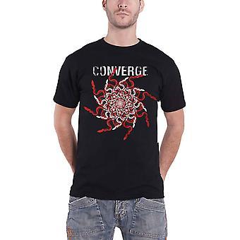 Convergir T-shirt Snakes Band logo novo oficial Mens preto
