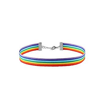Attitude Clothing Rainbow Choker
