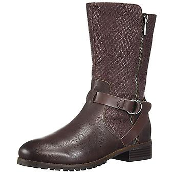 SoftWalk Womens Marlowe Round Toe Mid-Calf Riding Boots