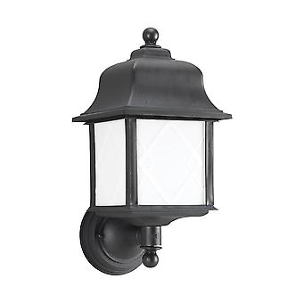 Sea Gull Lighting 88113BLE-12 Harbor Point Outdoor 1-Light Wall Lantern Black