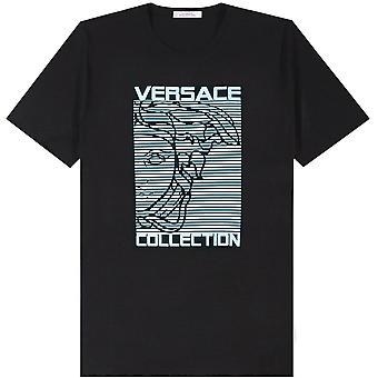 Versace Collezione Medusa Logo Stampa T-Shirt
