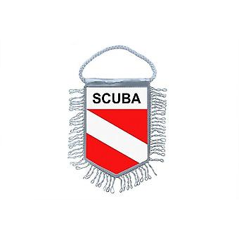 Fanion Mini Drapeau Pays Voiture Decoration Scuba Diver Dive