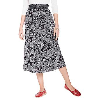 Amber Ladies Smock Waist Print Viscose Skirt