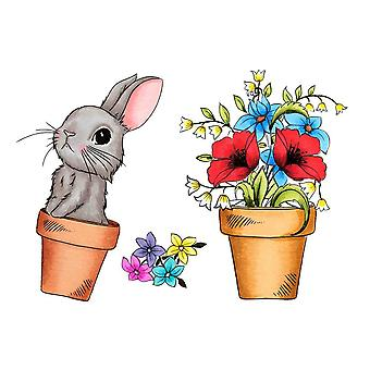 Crafter's Companion A6 Rubber Stamp - Rabbit's Garden