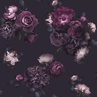 Euphoria Floral Wallpaper Plum Arthouse 697500