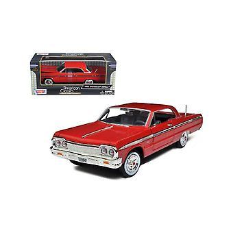 MotorMax American Classics - 1964 Chevrolet Impala Red  1:24